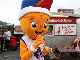 EuroBasket 2015 mascot Frenkie enjoys a hot dog during the Trophy Tour stop in Reykjavik